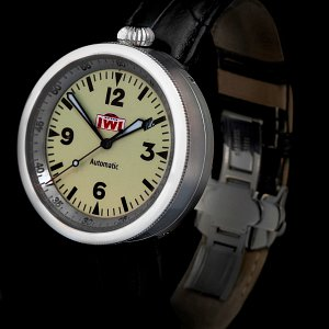 IWI Watches M3 on Black Aligator Strap Stainless Steel Case