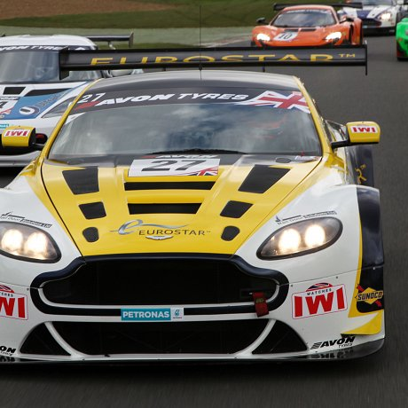 IWI Watches Ambassador Jody Fannin at British GT Media Brands Hatch 2015 Aston Martin GT3