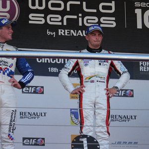 Top step of the podium in Jerez for IWI Watches ambassador Will Stevens